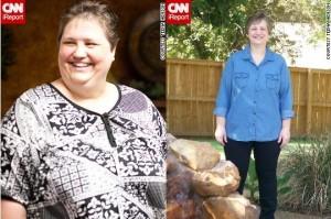 Тийна Хенсон от Тексас отслабна сензационно след прилагане на здравословна диета.