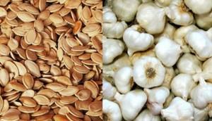 За лечение на глисти помагат тиквени семки и чесън