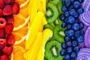 Полезните алкални храни подредени по цветовете на дъгата