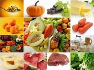 Храни съдържащи витамин А