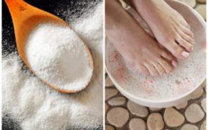 Сода бикарбонат за гъбички по краката.