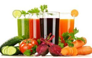Пречистване на лимфна система със зеленчуков сок.