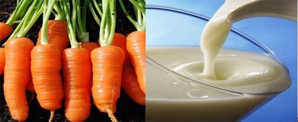Лек за кашлица от моркови с мляко