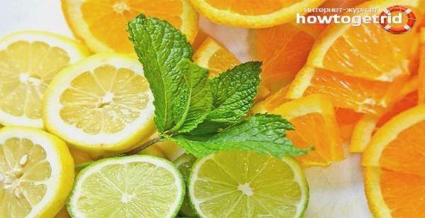 Цитрусовите плодове помагат за сваляне на високата температура