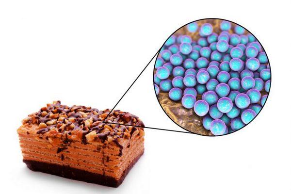 В някои случаи патогенният Staphylococcus навлиза в човешкото тяло с некачествена храна.